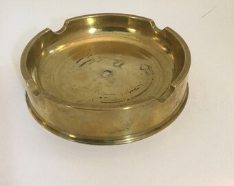 Vintage Trench Art Shell Ashtray