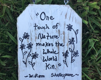 One Touch of Nature sign