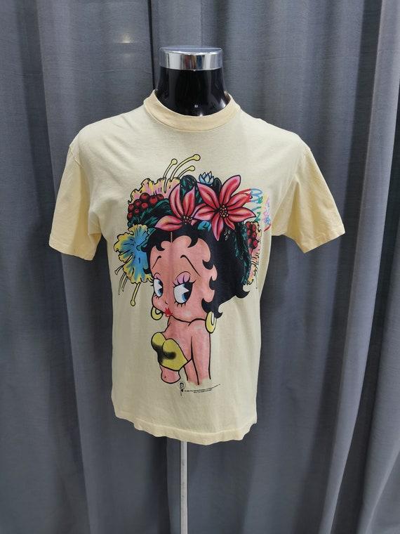 Vintage 96 Betty Boop Hawaiian T shirt Anime