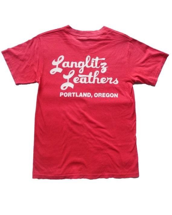 Vintage Langlitz Leather Portland T shirt Harley D