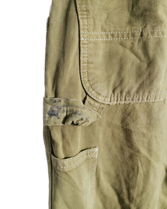 Vintage Carhartt Worker Pants Painted and Distress - image 9