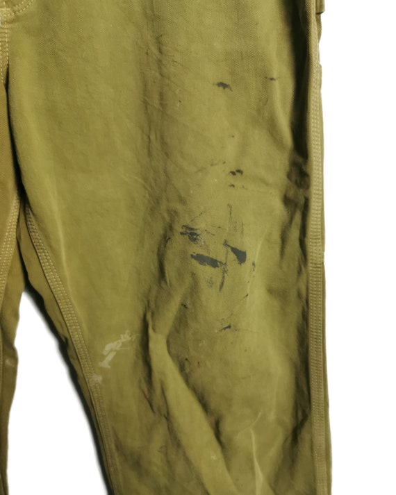 Vintage Carhartt Worker Pants Painted and Distress - image 7