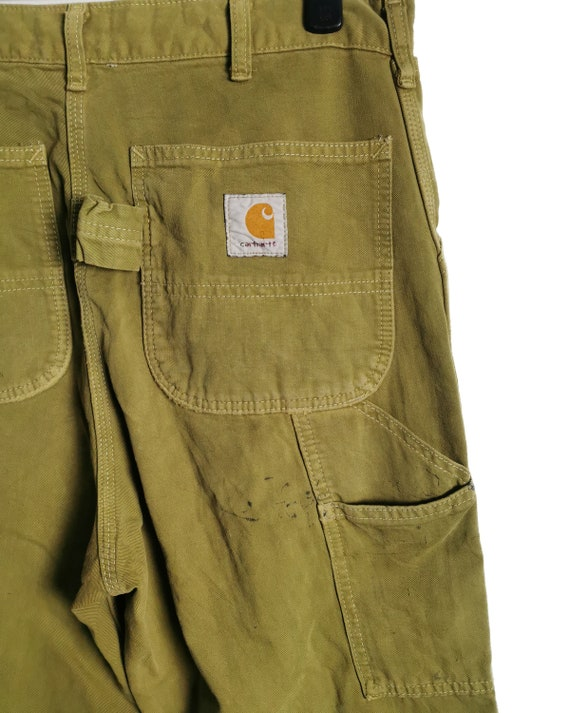 Vintage Carhartt Worker Pants Painted and Distress - image 5