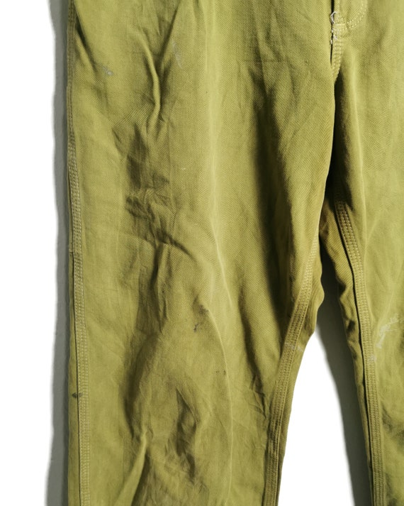 Vintage Carhartt Worker Pants Painted and Distress - image 8
