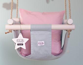Kiigik Mint Sage Green Indoor Baby Swing Chair,toddler Swing,fabric Swing,wood  Baby Swing,best Baby Swing,birthday Gift,baby Shower Gift