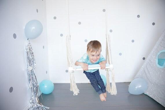 Beautiful Kiigik Grey Scandinavian indoor kids swing.Best birthday gift,perfect design swing for homekidsroom