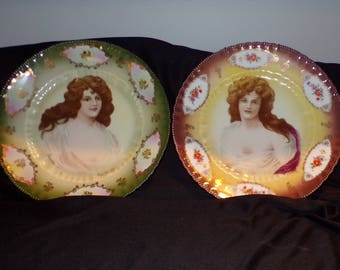 2 Plates Innocense and Meditation from Cress Woolett -  Victoria Austria
