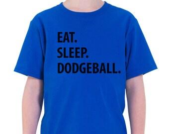 Dodgeball tshirt - Eat Sleep Dodgeball t shirt, Gift for Boys Girls Teens - 1201