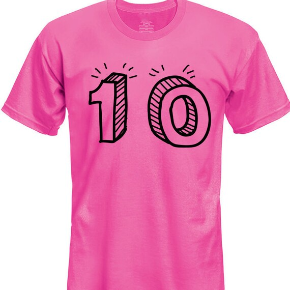 10th Birthday Shirt 10 Year Old Boys Girls