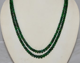 100% Natural Beryl Emerald Smooth Roundel Beads Size 4x10mm Approx 16'' inch . 2 Strand 260 carat ,