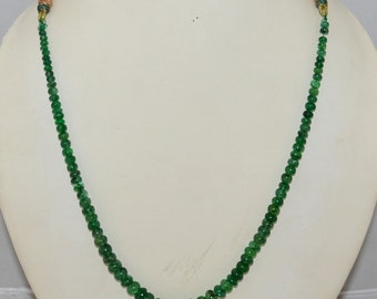 100% Natural Beryl Emerald Smooth Roundel Beads Size 5x10mm Approx 16'' inch . 1 Strand 150 carat ,