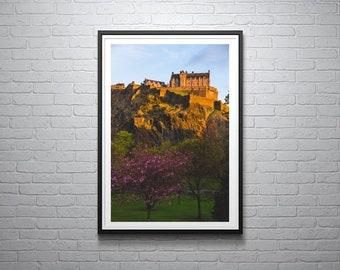 Edinburgh Castle in Spring Photographic Print, Scotland, City, Urban Photography, Home & Giftware, Wall Art