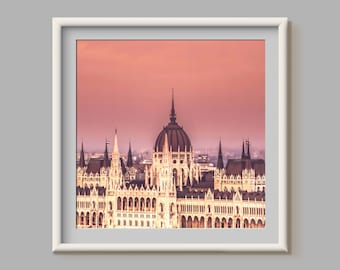 Budapest in Pink Photographic Print, City, Urban, Architecture, Travel, Europe, Photography