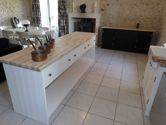 Superb Solid Wood Freestanding Kitchen Island With 3 Deep Drawers Squirreltailoven Fun Painted Chair Ideas Images Squirreltailovenorg