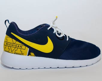 University of Michigan Wolverines Custom Nike Shoes handmade edition w   custom insoles available in all sizes 51d33de94e3d