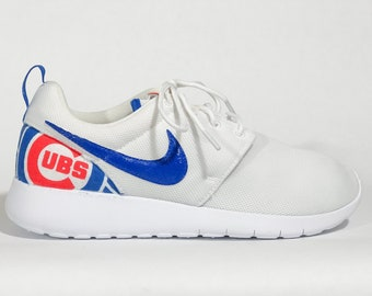 ce6f6efb1e0c2 Chicago Cubs Custom Nike Shoes White handmade edition w  custom insoles  available in all sizes