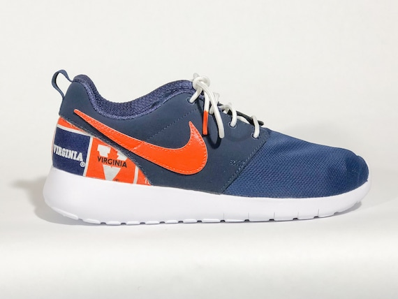 474e4e15ba794 Virginia Cavaliers Custom Nike Shoes White handmade edition w/ custom  insoles available in all sizes