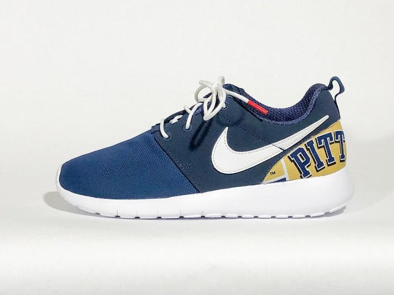 Penn State PITT Nike Schuhe Navy handgefertigte individuelle Ausgabe w benutzerdefinierte Einlegesohlen in allen Größen erhältlich