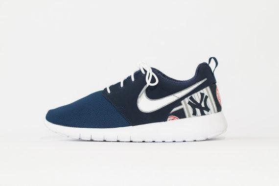 official photos ed4d6 ae5a7 New York Yankees Custom Nike Shoes handmade edition w  custom   Etsy