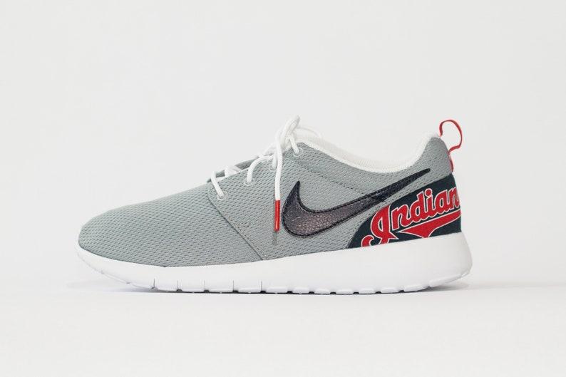 81b4cb5d619 Cleveland Indians Custom Nike Shoes handmade edition w  custom