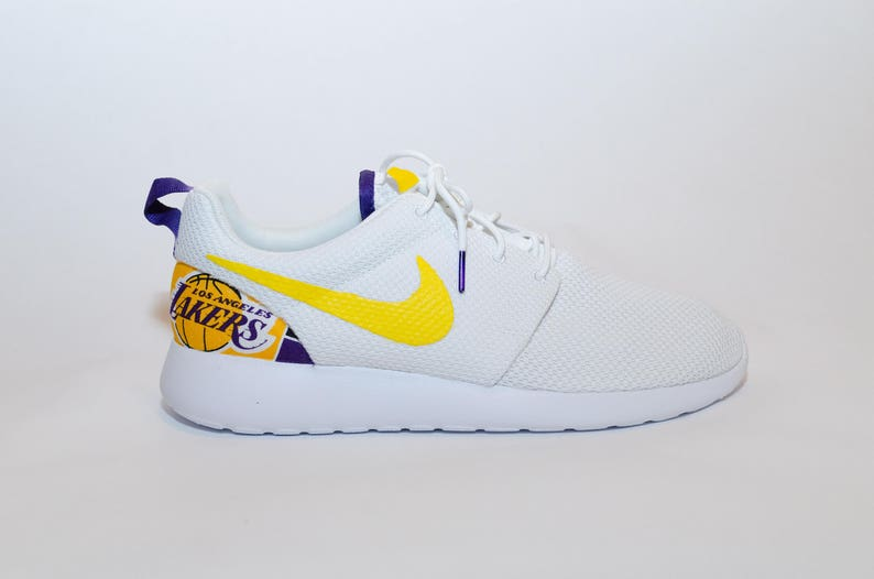 c88a4ca081e72 Custom Los Angeles Lakers Nike Shoes handmade edition w