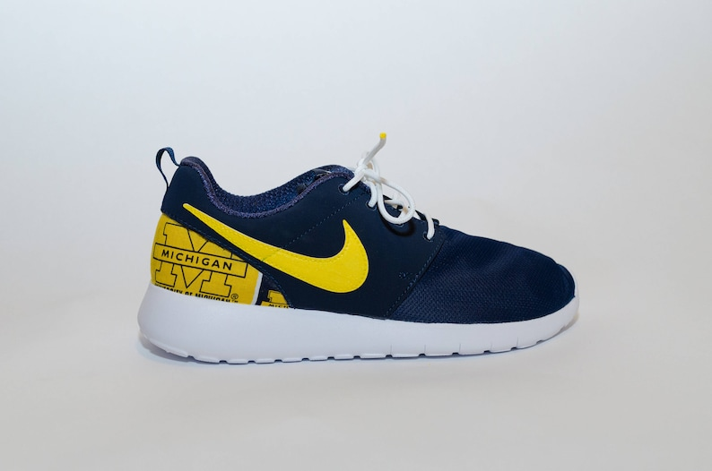 University of Michigan Wolverines Custom Nike Shoes handmade edition w custom insoles available in all sizes