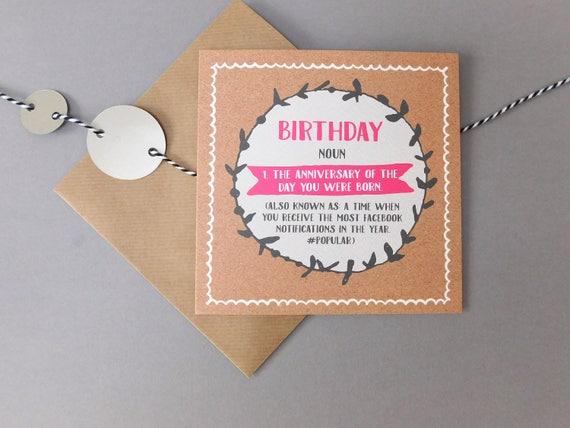 Funny Birthday Card Birthday Age Card Funny Birthday Cards Humour Birthday Card Facebook Joke Card For Friend Her Him Def8