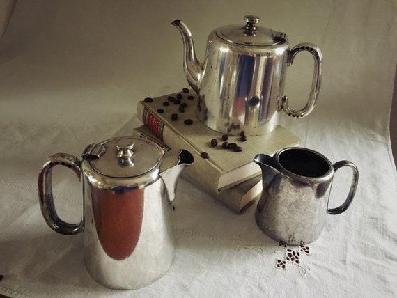 Silver Teapot Set Teapot Coffee Pot And Creamer Set