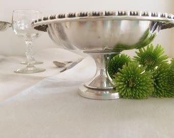 Silverplate Pedestal Candy Dish