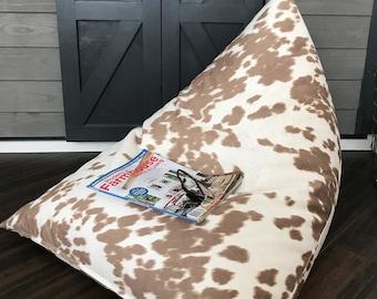78075eb0f0 Cowhide Bean Bag Envelope Style