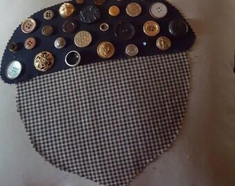 Antique button acorn pillowcase