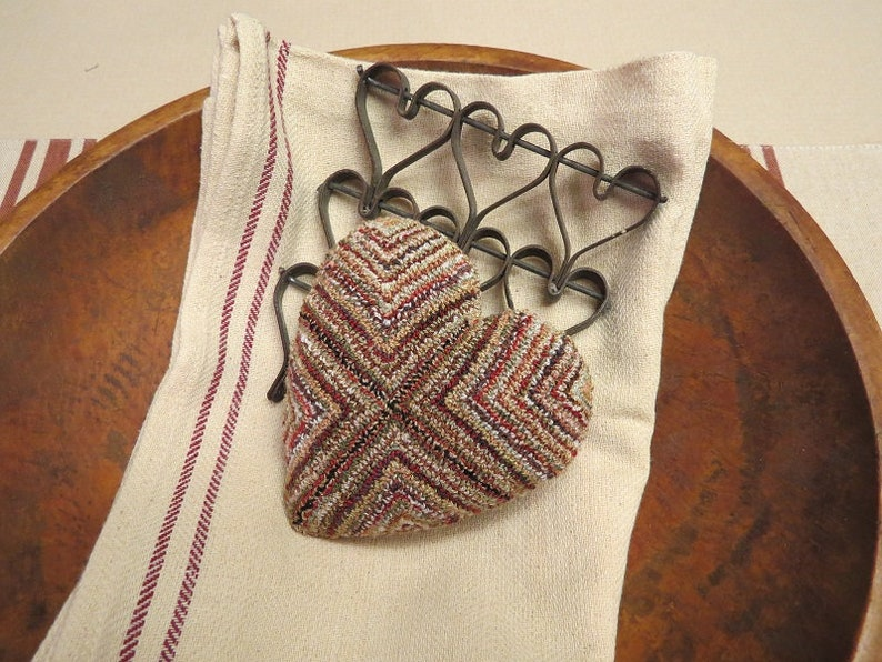 HEART of MANY COLORS...punch needle pattern