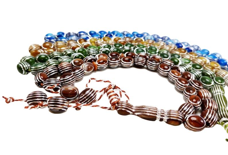 Lot 4 Tasbih Prayer 33 Handmade Worry Beads Misbaha Muslim Islamic Zikr Rosary Gift Tasbeeh Islam Zikr Meditation