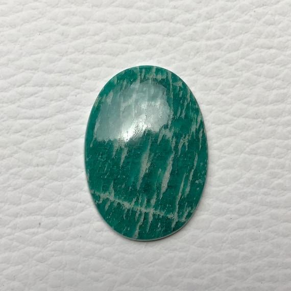 Top Rare Amazonite pierre naturelle Amazonite Cabochons haut qualité Amazonite Pierre lâche mm Semi précieuses en Amazonite {31 x 22 x 4} 28,5 Ct