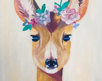 Woodland Deer Print