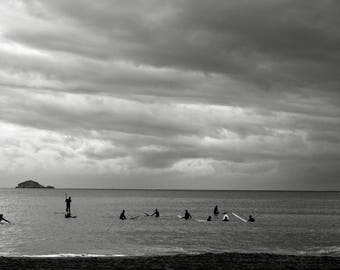 POSTER of Marseille Surfers black and white