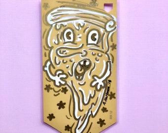 GOLDEN SLICE handpainted bookmark OOAK
