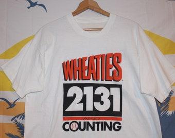 750b7938476 Vintage Wheaties Cereal Cal Ripken Jr.