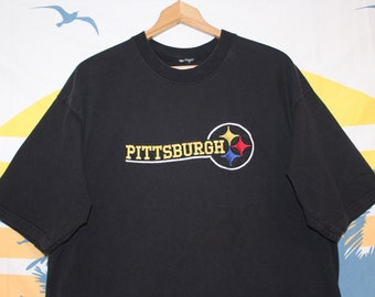33bd34b89 Vintage Embroidered Pittsburgh Steelers NFL Football Logo Shirt