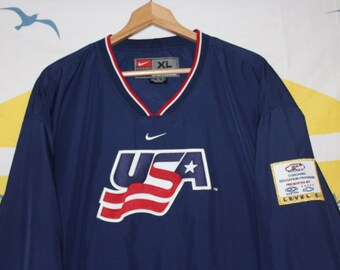 c23c2f99a Nike USA National Olympic Hockey Team Windbreaker Jersey Pullover