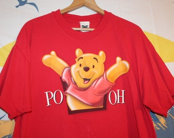 532fb7700 Vintage Disney Catalog Winnie the Pooh Front and Back Graphic T-Shirt