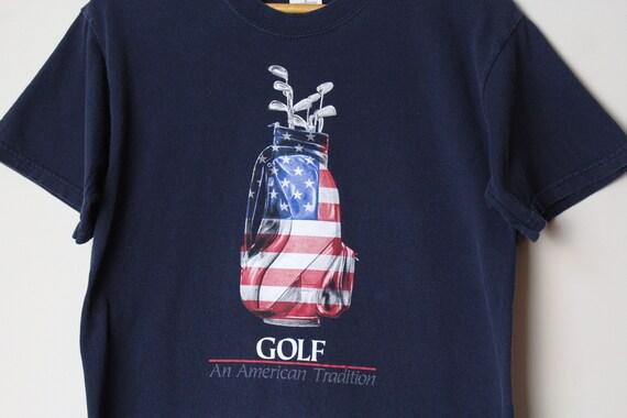 "Golf - ""An American Tradition"" American Flag Golfe"