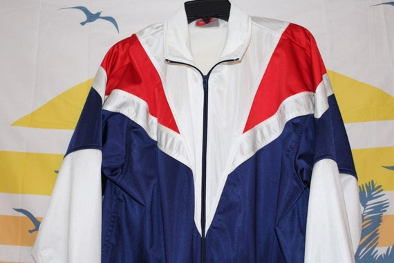 8adb8754cdd3 Vintage Nike Jacket in Red White and Blue