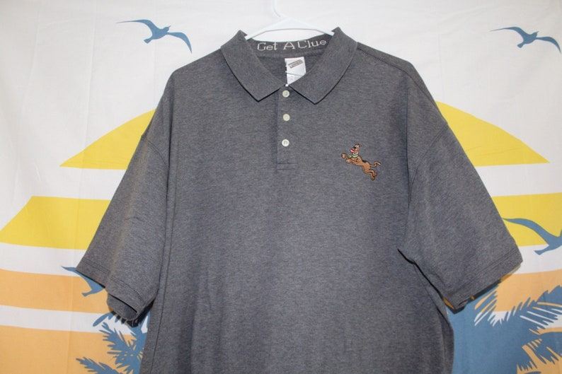 Embroidered Scooby Doo Collared Polo Shirt