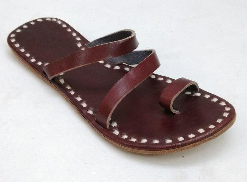Women footwear Casual wear slipper Leather slipper Red women slipper Handmade Leather footwear