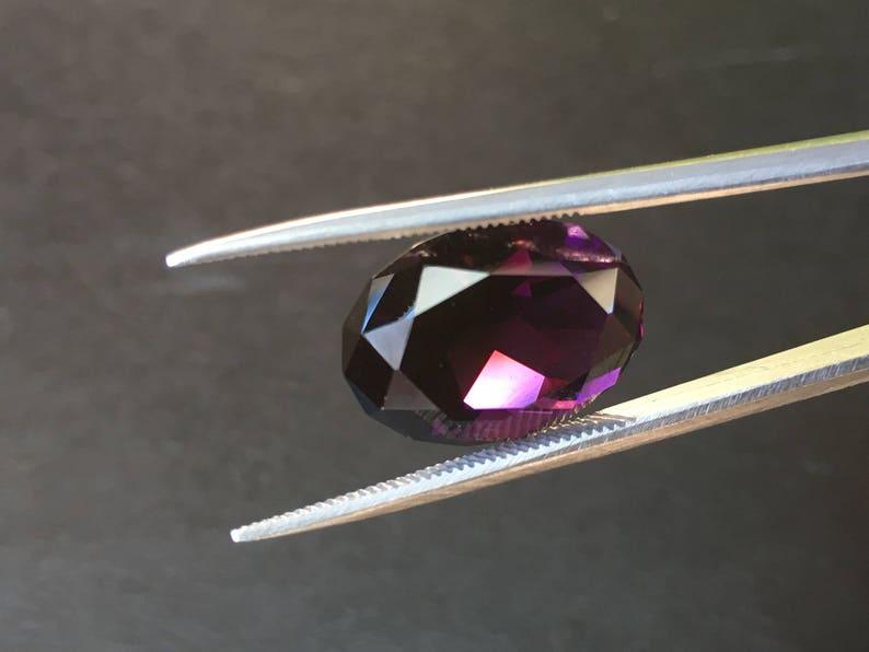 Oval shape Facet Rwanda Rwandan amethyst Gemstone ring pendant jewelry Loose gemstone VIDEO 9,0 ct Natural Purple faceted Amethyst