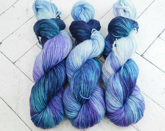The Sea Witch- Hand-Dyed Superwash Sock Yarn