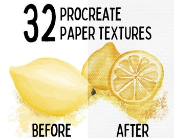 32 set    Procreate PAPER TEXTURE BRUSHES
