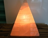 Exquisite Hand-carved Himalayan Pyramid Salt Lamp Package