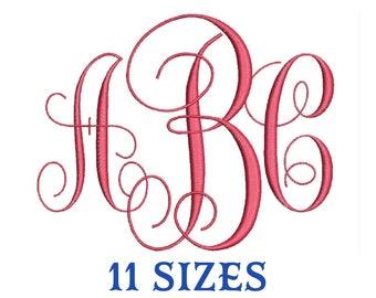 Vine Monogram Embroidery Font Vine Machine Embroidery Design Files in Csd Dst Exp Hus Jef Pes Pcs Shv Sew Vp3 Vip Xxx formats.